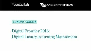 Digital Luxury Digital Frontier 2016