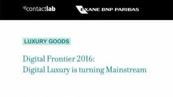 Digital Luxury Digital Frontier 2016
