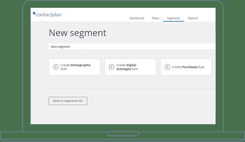 Contactplan advanced segmentation