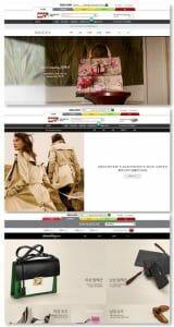 Brands official online stores on Shinsegae Mall website