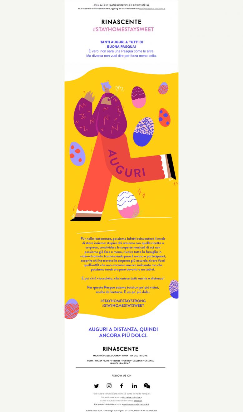 Email Pasqua Rinascente