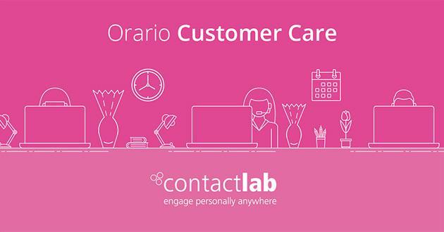 Orario customer care Pasqua 2020