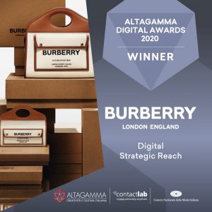 burberry altagamma digital awards 2020